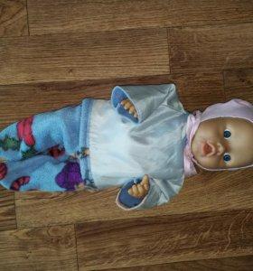 Кукла Катя+гардероб