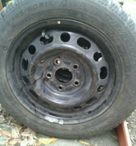 2шт. Goodyear ultragrip 195/60 R15 б/у на дисках