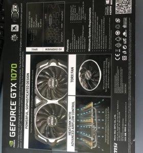 Видеокарты MSI GeForce GTX 1070 Armor 8 GB