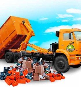 Вывоз мусора строительного, хлама,мебели