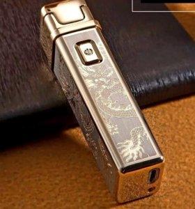 Сувенирная электронная зажигалка, заряд от usb