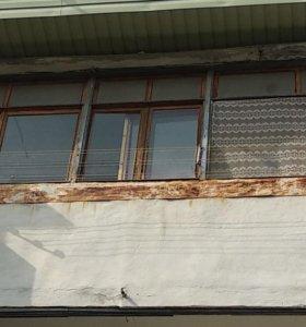 Балкон деревянный б/у
