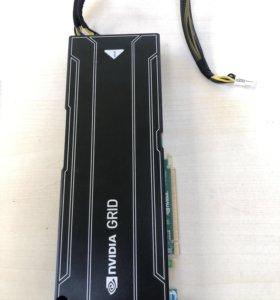 Видеокарта NVIDIA GRID K2 с кабелем питания