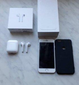 Iphone 6 и беспроводные аир подс