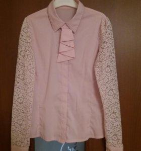 Блузка для девочки 9-10 лет на рост 140-146.