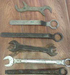 Гаечные, накидные, комбинированные ключи