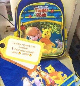 Рюкзак + сумка для сменки Disney оригинал