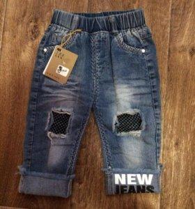 Новые джинсы на пухленькую девочку 86-92.