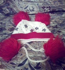 зимняя шапочка на меху