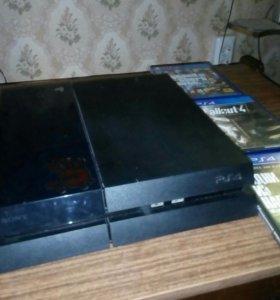 Ps4(PlayStation4 500gb)+3игры