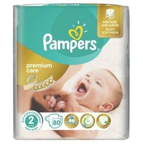 Подгузники Pampers Premium Care 2 80 шт