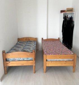 2 штуки односпальных кровати