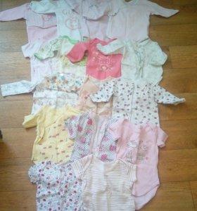 Вещи на девочку 6-9 месяцев