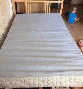 Кровать и матрас 200 на 120