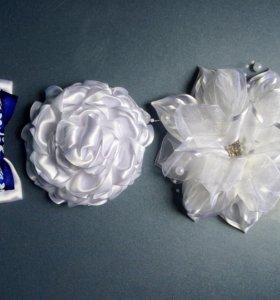 Банты белые, бабочка для девочки