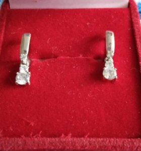 Детские серебряные серьги