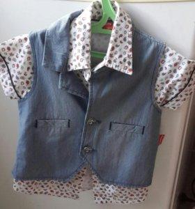 Рубашка жилетка