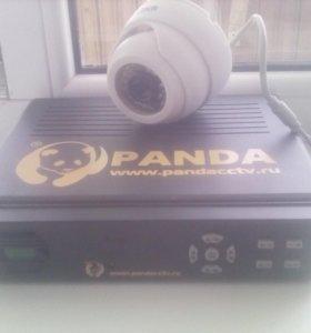 Купольная камера и видеорегистратор