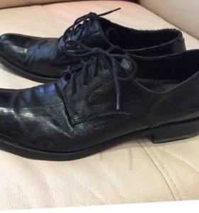 Туфли из угря ботинки мужские 42,5