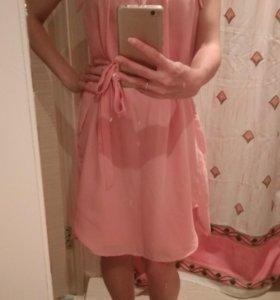 Платье нежно розовое 42, 44