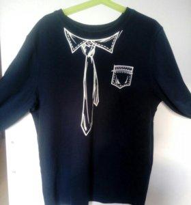 Рубашка- футболка для школы 160-164см