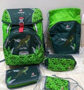 Новый школьный рюкзак deuter с наполнением