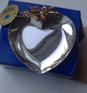 Свадебный аксессуар тарелочка для колец