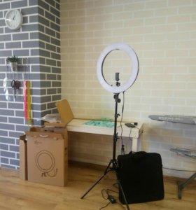 Кольцевая лампа 49 см 240 светодиодов