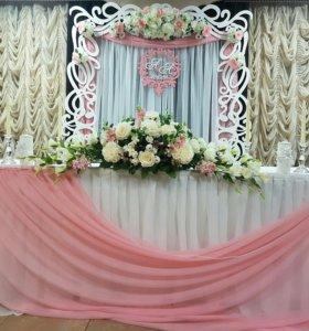 Свадебные декорации,оформление зала .