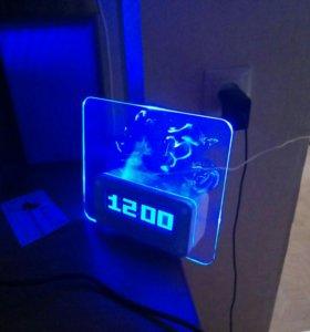 Будильник, часы, ночник, термометр
