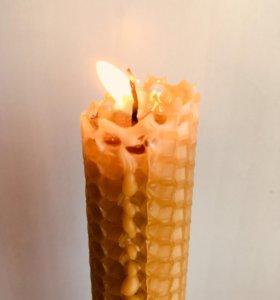 Медовые свечи из вощины d=3 см