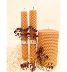 Медовые свечи в подарок