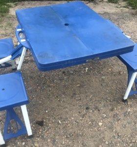 Дорожный складной стол со стульями