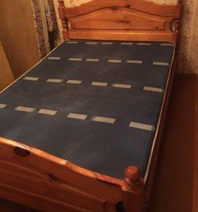 Кровать 2-х спальная с матрасам
