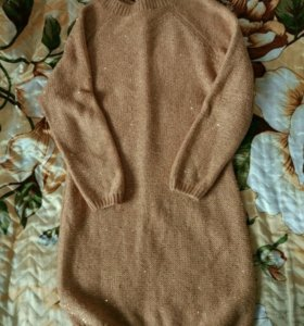 Платье-свитер/вязаное платье/ свитер/кофта