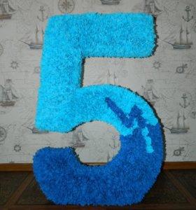 Объемная цифра 5