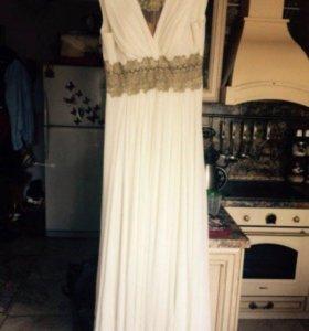 Греческое платье с накидкой