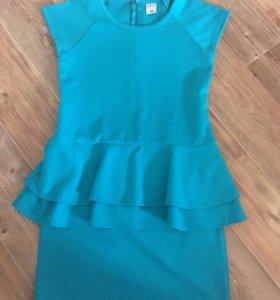 Платье с баской для девочки SELA
