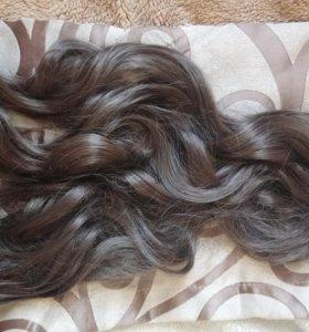 Волосы пряди трессы на заколках