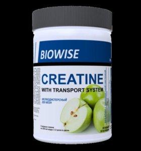 BIOWISE Creatine с транспортной системой 200 гр,