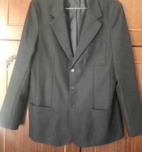 Пиджак школьный темно-синий на полного мальчика 16