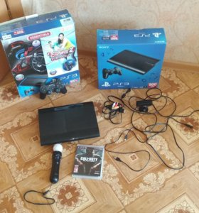 Sony PS3 super slim 500GB 6 игры