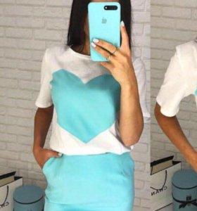 Комплект футболка юбка