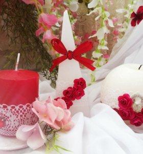 Декоративные свечи на свадьбу