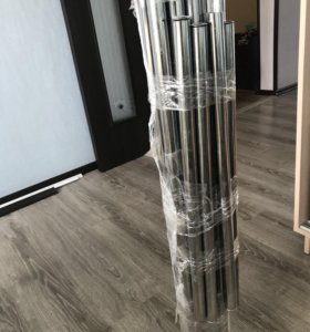 Трубы металлические хром комплект из 15 труб
