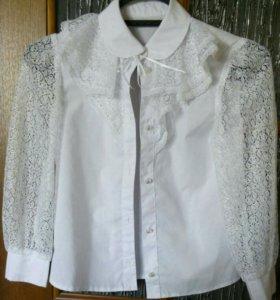 Блузка школьная р-р. 134