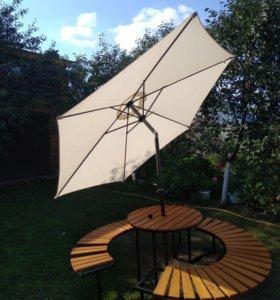 Зонт садовый фирменный новый