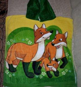 Полотенце-халат с семьей лисов