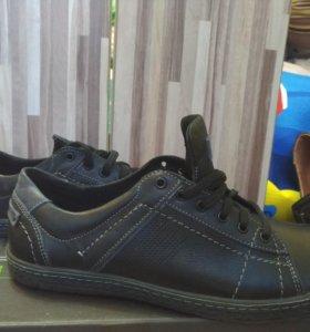 Туфли мужские, натуральная кожа, новые