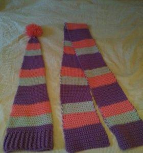 Шапка и шарф, шерсть (комплект)